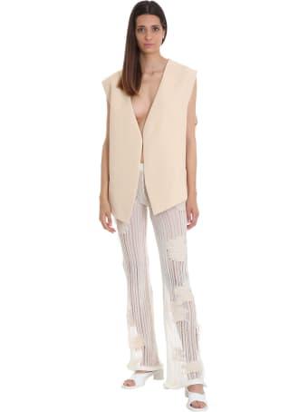 Acne Studios Koona Flower Pants In White Cotton