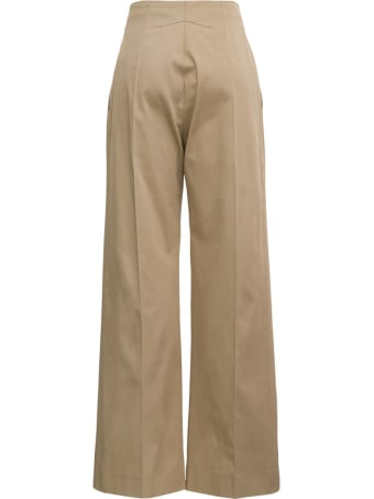 Patou Beige Cotton Gabardine Pants
