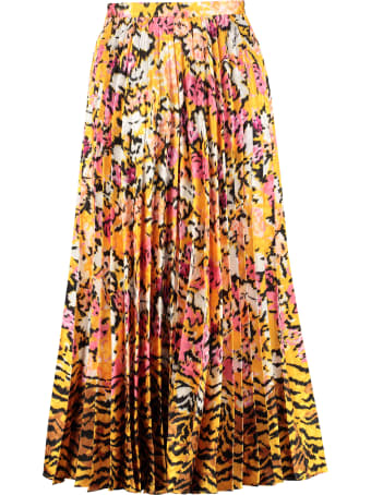 Saloni Printed Pleated Skirt