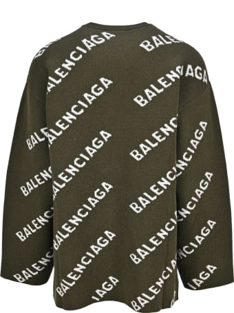 Balenciaga All-over Logo Sweater