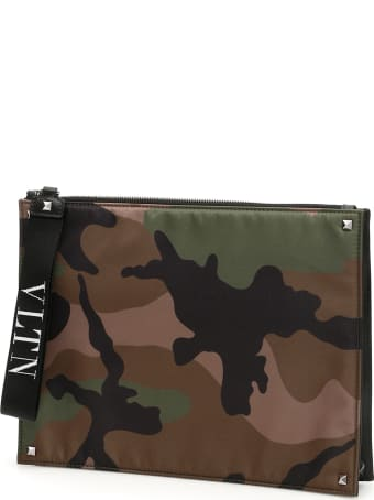 Valentino Garavani Vltn Camouflage Clutch