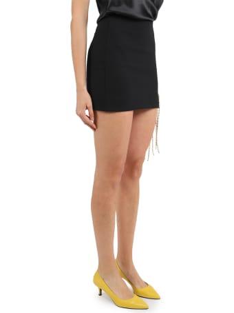 AREA Crystal Flower Mini Skirt