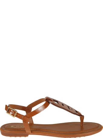 Tod's Side Buckled Flat Sandals