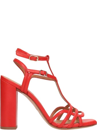 Chie Mihara Red Leather Edel Sandals