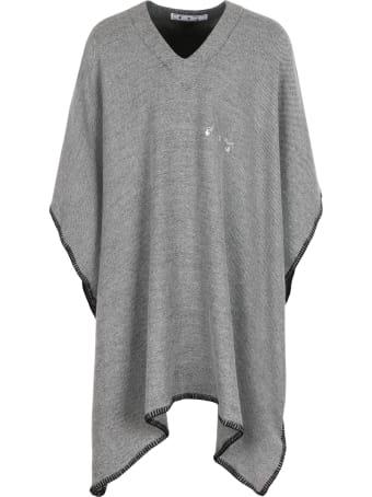 Off-White Wool Poncho