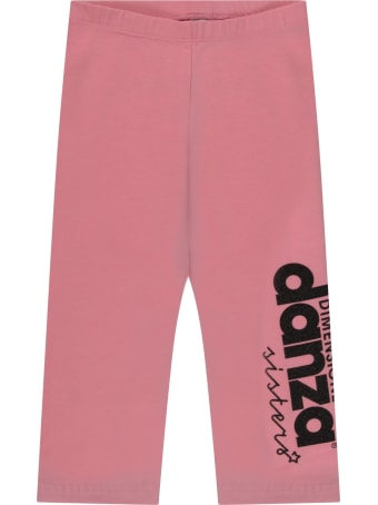 Dimensione Danza Pink Leggings With Logo For Girl