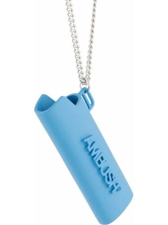 AMBUSH Blue/silver-tone Brass Necklace