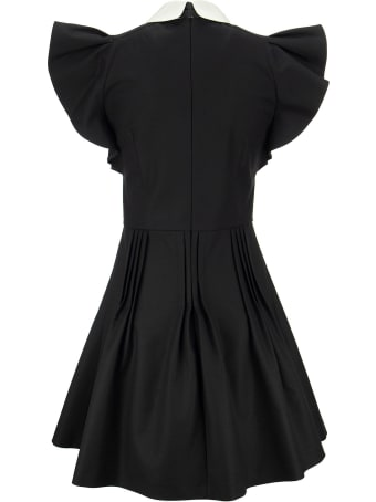 RED Valentino Soft Fluid Dress With Pleated Skirt