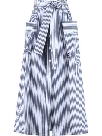 Parosh Clacx Belted Cotton Skirt