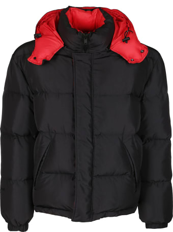 MSGM Black And Red Down Jacket
