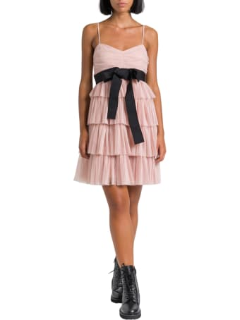 RED Valentino Tulle Short Ress With Flounces