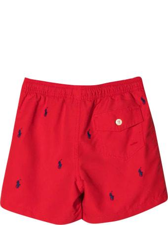 Ralph Lauren Red Swimsuit