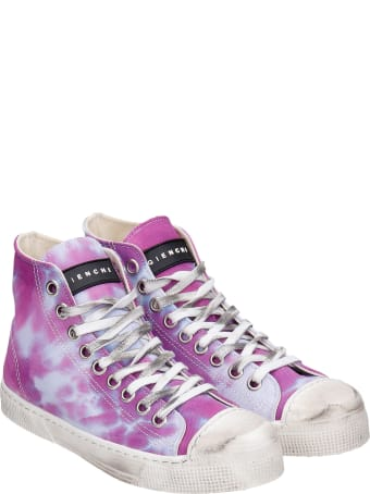 Gienchi J.m High Sneakers In Viola Canvas