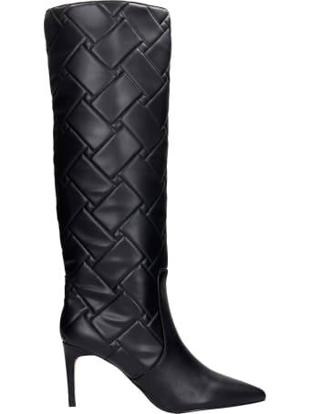 Kurt Geiger High Heels Boots In Black Leather