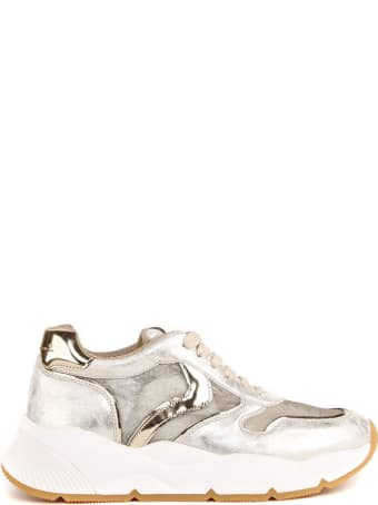 Voile Blanche Gold Sheel Leather Sneaker
