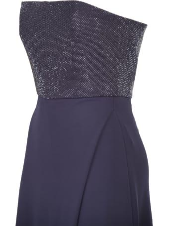 Emporio Armani long crepe dress