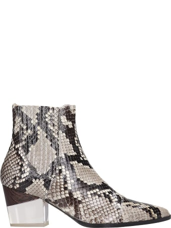 Alexandre Birman Ankle Boots In Animalier Leather