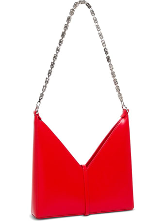 Givenchy Borsa A Tracolla Cut Out Piccola In Pelle Box Rosso
