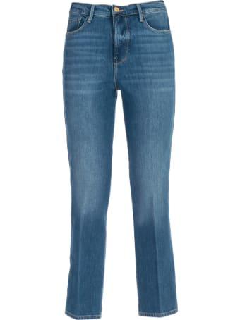 Frame Jeans Slim Cropped High Waist