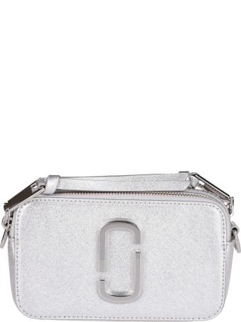 Marc Jacobs Silver-tone Leather Snapshot Crossbody Bag