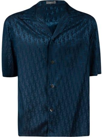 Christian Dior Logo Motif Short-sleeve Buttoned Shirt