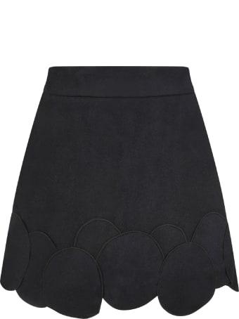 Owa Yurika Black ''michiko''girl Skirt With Patch