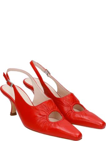 Kalda Peki Pumps In Red Leather