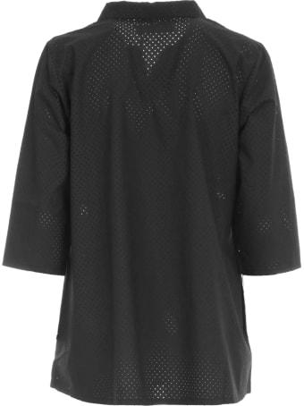 Labo.Art Shirt Revers Neck Drilled Textile