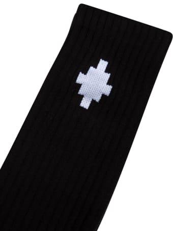 Marcelo Burlon Cross Sideway Midthigh Socks