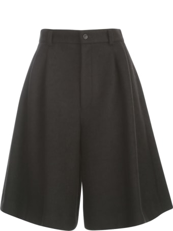 Comme des Garçons Polyester Wool Compressed Knit Shorts