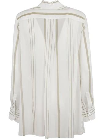 Chloé Stand-up Collar Stripe Print Shirt
