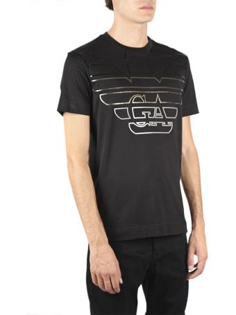 Emporio Armani Black Cotton T-shirt