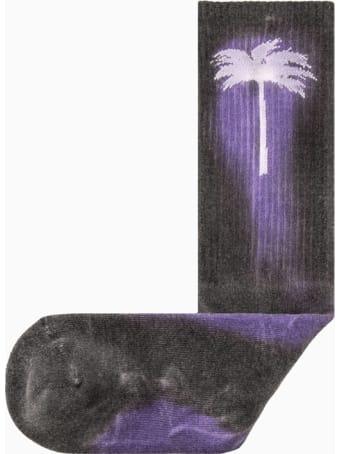 Palm Angels Palm Angel Tie Dye Palm Socks Pmra001r20395040