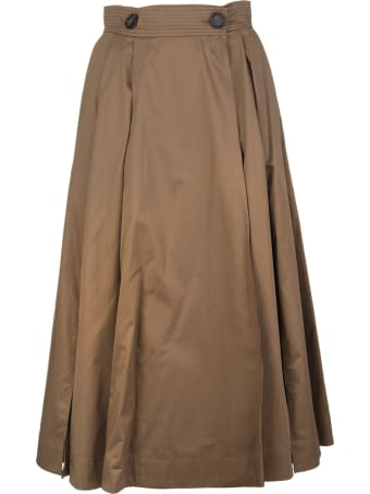 Max Mara Brown Pueblo Skirt
