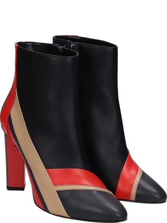 Pierre Hardy Alpha Plus  Ankle Boots In Black Leather