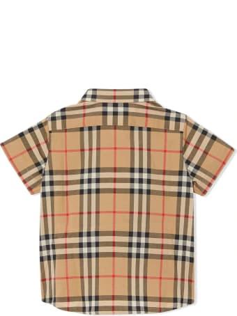 Burberry Brown Cotton Vintage Check Shirt