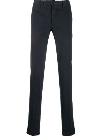 Incotex Blue Stretch Cotton Trousers
