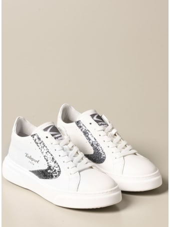 Valsport Shoes Tournament Up Valsport Sneakers In Leather With Glitter Detail