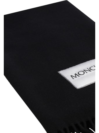 Moncler Wool Scarf With Fringes