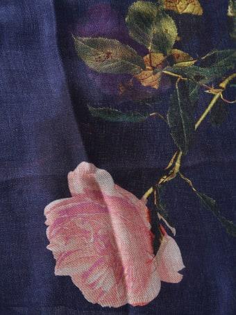 Dries Van Noten Floral Print Scarf