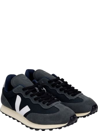 Veja Rio Branco Sneakers In Black Suede And Fabric