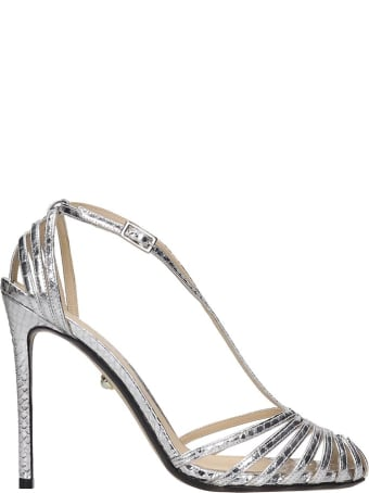 Alevi Tony 110 Sandals In Silver Leather