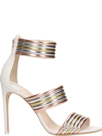 Sophia Webster Joy Metallic Striped Strappy Sandals