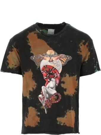 Alchemist Black And Brown Cotton T-shirt