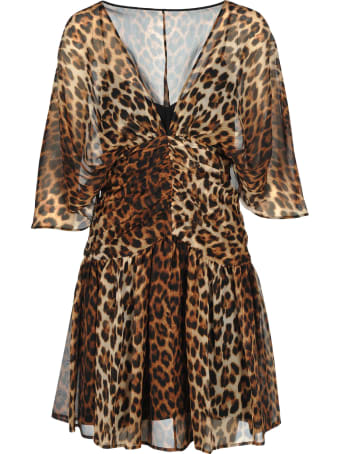 N.21 N21 Leopard Print Silk Mini Dress