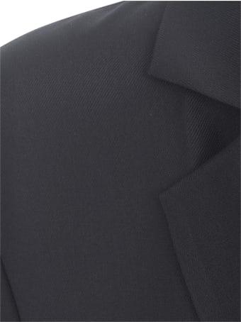 Emporio Armani Double Breasted Jacket Crepe