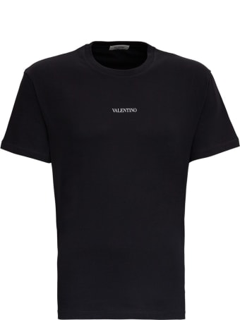 Valentino Jersey T-shirt With Logo Print