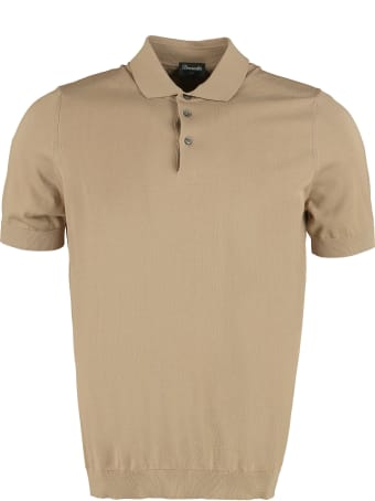 Drumohr Knitted Cotton Polo Shirt