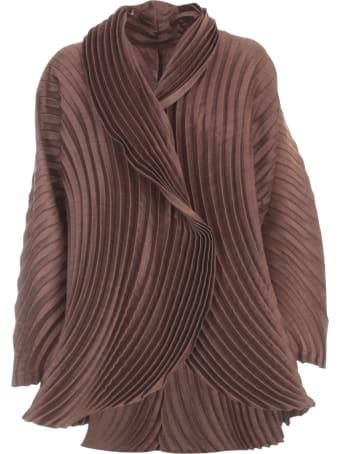 Issey Miyake Wool Circle Pleats Jacket