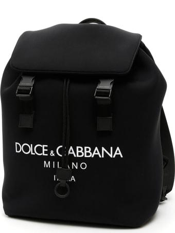 Dolce & Gabbana Logo Neoprene Backpack